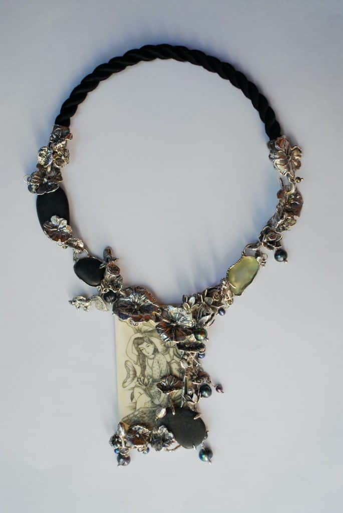 "Necklace titled ""Asian Summer"" by Lisa Simms."